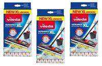 3x Ultramax Ultramat Turbo XL Ersatz Wischbezug Wiischer +20% Microfibre 2in1