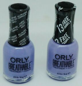 2 ORLY Breathable Nail Polish / Treatment + Color Nail Lacquer JUST BREATHE