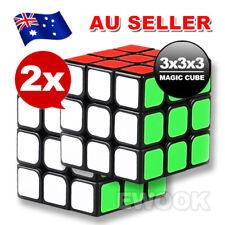 2X Sydney Stock Magic Cube 3x3x3 Super Smooth Speed Rubik Puzzle Rubics Rubix
