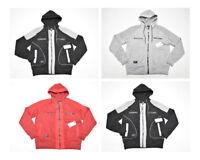 $48 NWT NEW Mens Rocawear Contrast Moto Fleece Zip Hoodie Sweatshirt Urban N530