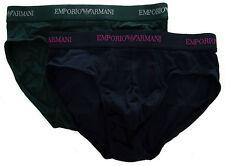 Bipack 2 slip uomo EMPORIO ARMANI a.111321 4A717 taglia XL c.06583 pine marine