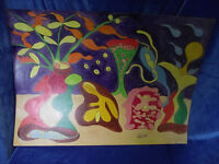 "August Linder: ""Materie-Wandel.""Tempera,surreal, abstrakt,signiert,1997,(15)"