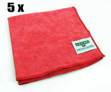 5 x UNGER SmartColor™ MicroWipe™ RED - Mikrofaser Rot 40 x 40 cm