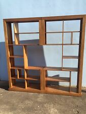 Local Made Tassie Oak Hardwood Timber 2 Piece Wall Unit Bookcase Tv Unit 2mX2m