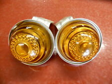 NOS PAIR PELL LITE AMBER GLASS BULLET CLEARANCE MARKER LIGHT AUTO TRUCK RV