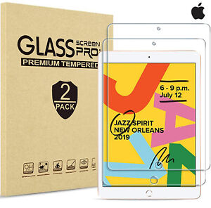 2 Tempered Glass Screen LCD Protector for Apple iPad 10.2 (2020) 8th Generation