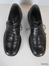 FERRAGAMO 8.5 D Leather Lace-Up Black Dress Shoes Oxfords EUC