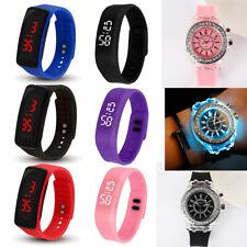Reloj Deportivo De Pulsera Digital LED Silicona Reloj De Niño Niña Hombre Mujer Regalo de Cumpleaños