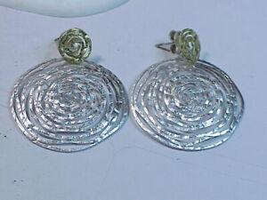 Sterling Silver & 18k Gold Dangle Earrings