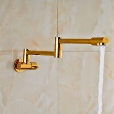 Rozin Gold Folding Single Cold Water Kitchen Sink Tap Pot Filler Bathroom Faucet