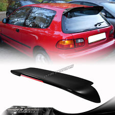 SPN Style Duckbill Black LED Rear Roof Spoiler Wing For 92-95 Honda Civic EG 3DR
