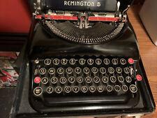 BEAUTIFUL REMINGTON RAND MODEL 5 TYPEWRITER GLOSS BLACK & CASE 1930'S VINTAGE