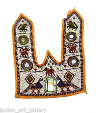 Vintage Hand Embroidery Work Rare Kutch Heavy Beaded Wall Hanging Décor. i17-9