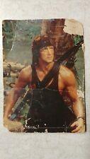 "Vintage STAR 105 Sylvester Stallone ""Rambo"" Original July 24, 1987 Postcard L@@K"