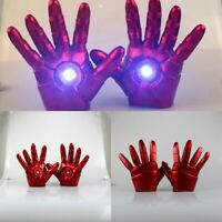 The Avengers Iron Man Gloves LED Lighting Left Right Hand Model Toy Cosplay Prop