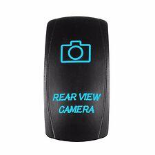 Laser BLUE Rocker Switch LED Rear View Camera 20A 12V ON/OFF LED Light-NEW