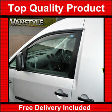 VW Caddy Maxi 03-10 10-15 Genuine ClimAir Front Wind Deflectors Top Quality Tint