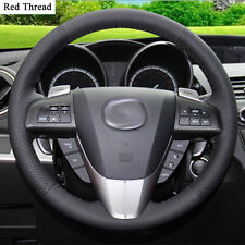 New DIY Sewing-on PU Leather Steering Wheel Cover Exact Fit For Mazda 3 2011