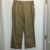 NEW TALBOTS  Woman Stretch Pants Plus Size 14W Tan NWT