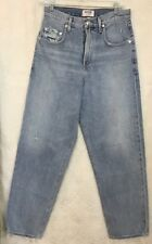 Agolde Jeans Blue Wide Leg Frayed Ankle High Rise  size 24