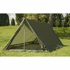 French Army F1 lightweight nylon commando tent in olive drab.