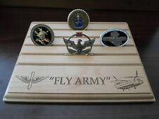 Military Challenge Coin Holder/Display 8x10, Fly Army, CHINOOK