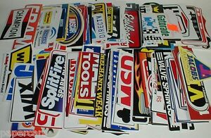 27 LARGE New Hot Rod Drag Racing contingency speed shop decal sticker lot N.O.S.