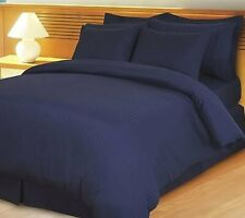 Striped Navy Blue Down Alternative Comforter 200 GSM All Seasons Queen Size