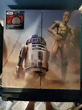 Halex Star Wars C-3PO & R2D2 Double Sided Dartboard + 6 Steel Tip Darts New