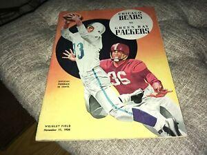 Chicago Bears vs. Green Bay Packers Nov 11 1956 Football Program JA