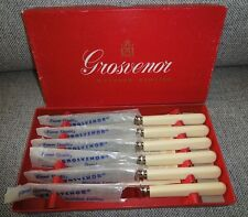Grosvenor by Myttons Limited Set of 6 Dessert Knives Cutlery Faux bone handles