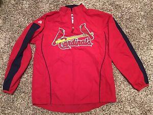 NWOT Boys St Louis Cardinals Majestic MLB Jacket Youth Kids Baseball Size Large
