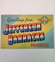 Vintage Greetings From Jefferson Barracks Missouri Postcard US Army Air Corps
