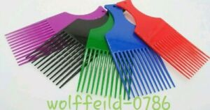 1 X MINI PROFESSIONAL PLASTIC AFRO COMB STYLING/UNTANGLING Hair African Hair