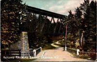 Postcard Rutland Railroad Bridge Chatham NY 1909