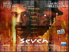 SEVEN Affiche Cinéma GEANTE 4x3 WIDE Movie Poster BRAD PITT DAVID FINCHER