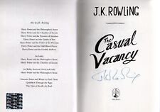JK Rowling Casual Vacancy 1st Edtion Unread HB Signed Book Hologram Autograph