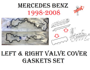Mercedes Engine Valve Cover Left & Right Gaskets For W220 W219 W210 W211 W463