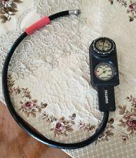 Uwatec Bar/Metric Scuba Gauge Console. Spg & Compass + temperature gauge. Excell