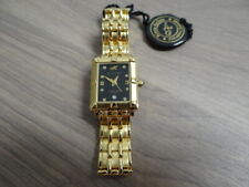 NOS WOMEN'S KLAUS KOBEC ENTREPRENEUR GOLD PLATED BRACELET QUARTZ WATCH