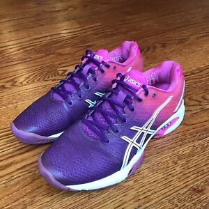 Asics Womens Gel-Solution Speed Running Shoes Pink Purple E450J Size 7.5