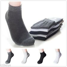 5 Pairs Lot Men's HJC Polo Sport Quarter Cotton Ankle Socks Breathable With Mesh