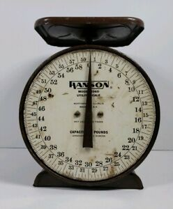 Vintage Hanson Utility Scale 60lbs Model 2060 Made in USA Antique Kitchen Decor