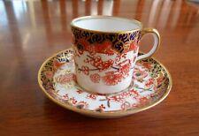 Royal Crown Derby Bone China Coffee Can & Saucer 2649 Imari Style C1909 England