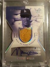 2004 SP Game Used Patch Edition MAURY WILLS AUTO PATCH #9/10 Dodgers
