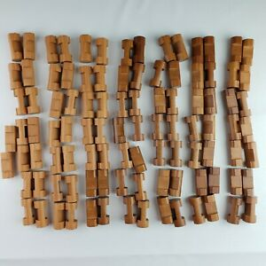 Lincoln Logs  Lot of 100 Small Single One Notch Logs Full Round 1.5 inches