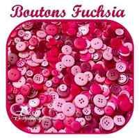 LOT 45 BOUTON ROSE FUSCHIA SCRAPBOOKING COUTURE LAYETTE