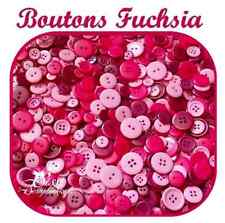 19 mm LOT 6 BOUTONS  ROSE FUSCHIA NEUFS 1,9 cm 4 trous pink button pull