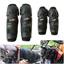 2 Pair Elbow Knee Shin Armor Guard Pads Protector Set For Motorcycle Bike Racing