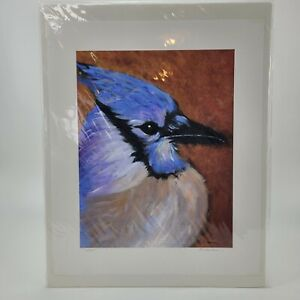 Jay's Jay Blue Bird Art Painting Print Limited Edition by Ginny Matheson 2005